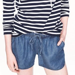 j.crew | lightweight washed chambray short.